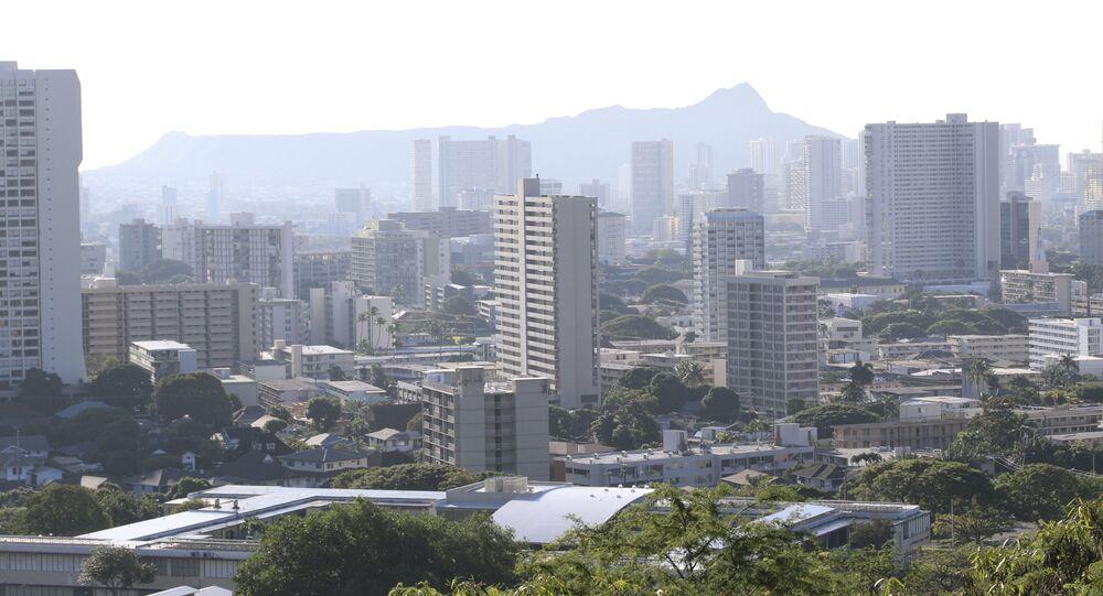 Widok na Honolulu, Hawaje
