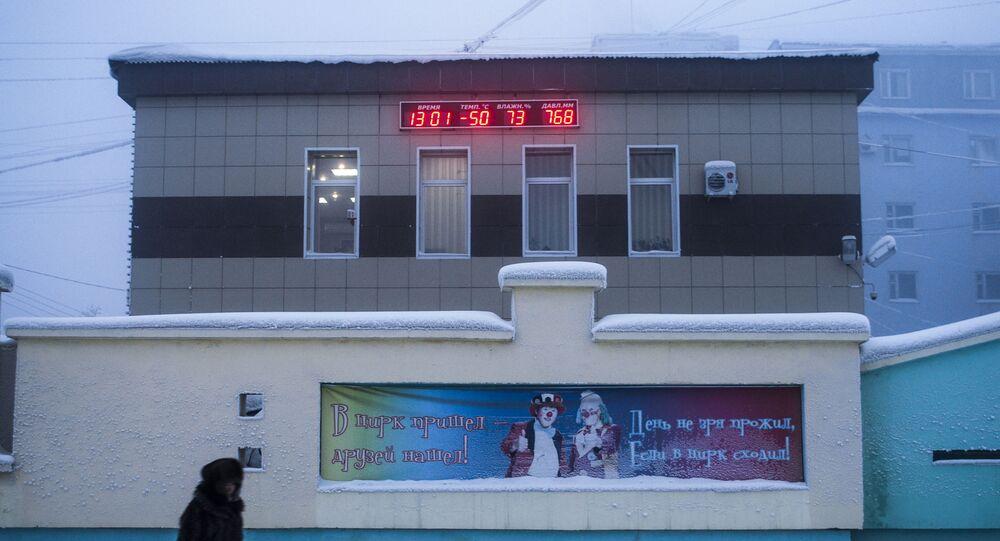 Srogie mrozy w Jakucji. Temperatura wyniosła -50 stopni Celsjusza