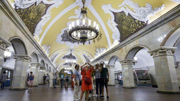 Stacja moskiewskiego metra Komsomolskaja - Sputnik Polska