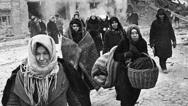 Mieszkańcy oblężonego Leningradu - Sputnik Polska