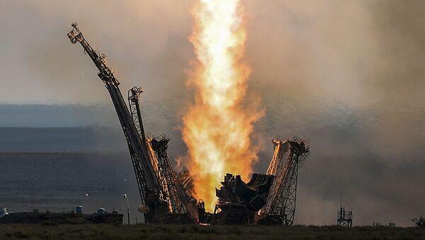 Start rakiety Sojuz-FG - Sputnik Polska