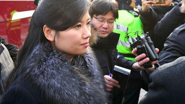 Północnokoreańska piosenkarka Hyon Song-wol podczas wizyty w mieście Gangneung - Sputnik Polska