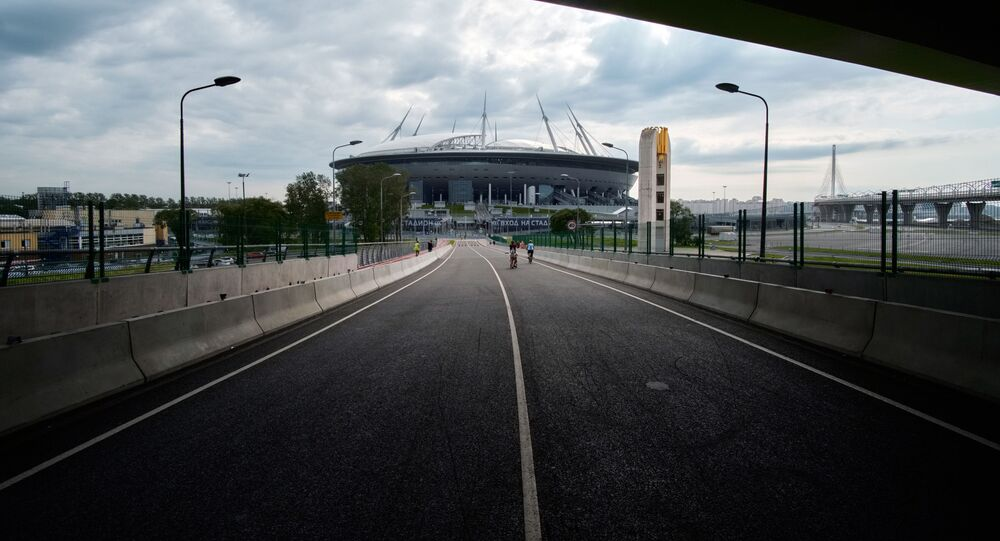 Most prowadzący na stadion Sankt Petersburg