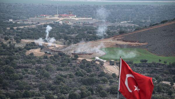 Tureckie wojska na syryjsko-tureckiej granicy - Sputnik Polska