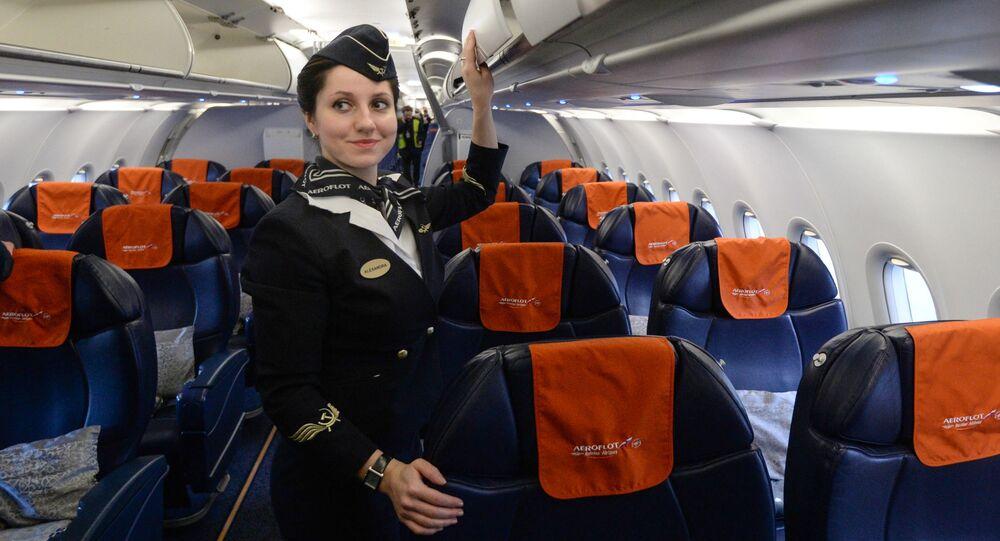 Stewardesa linii lotniczej Aerofłot