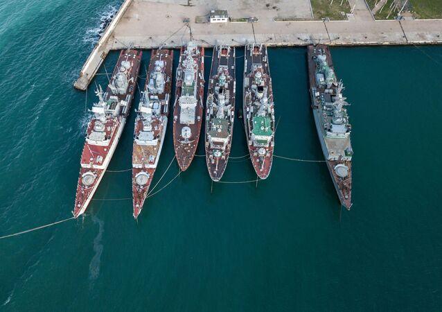 Okręty wojskowe należące do Ukrainy na Krymie