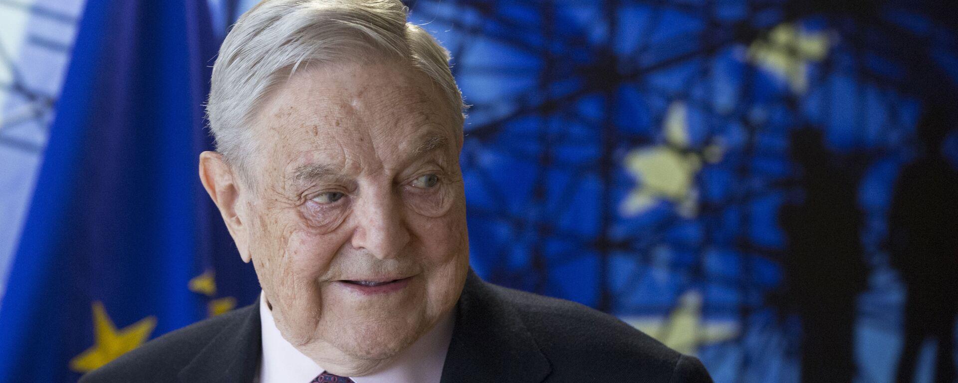 Amerykański miliarder George Soros w czasie wizyty w Brukseli - Sputnik Polska, 1920, 19.11.2020
