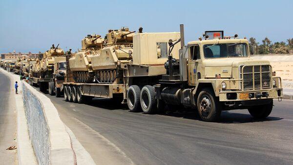 Transport egipskich czołgów. Zdjęcie archiwalne - Sputnik Polska