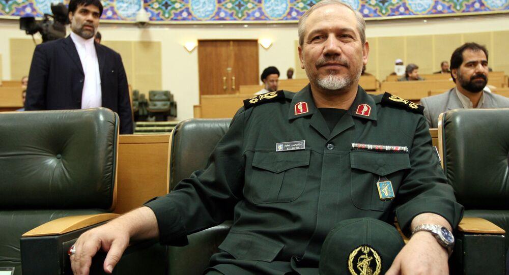Irański generał Jahja Rahim Safavi w Teheranie, 2007 rok