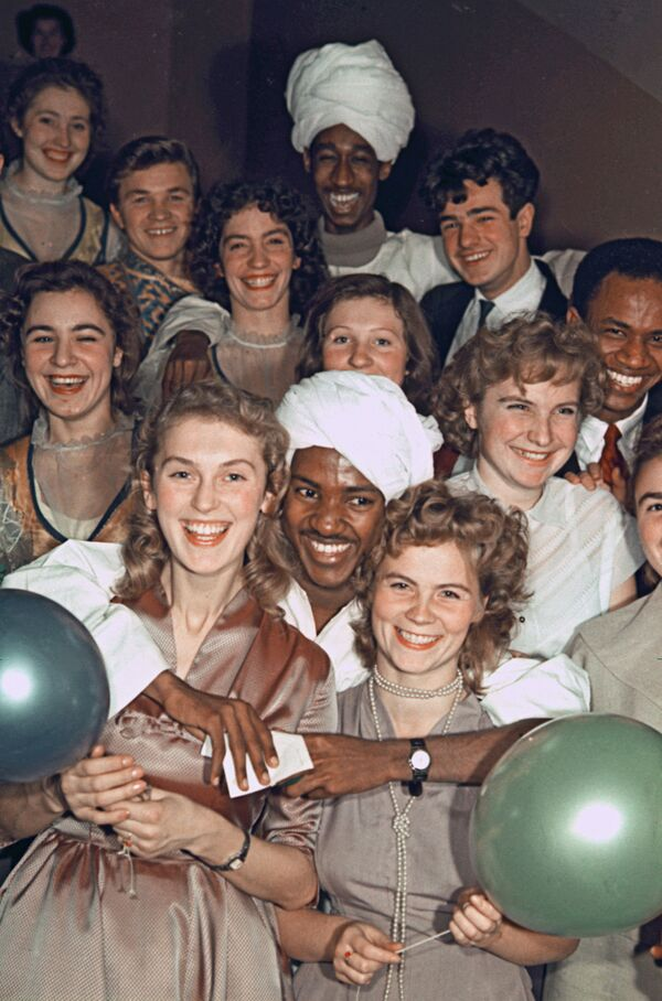 Rosyjscy studenci w ZSRR i dziś, 1960 rok - Sputnik Polska
