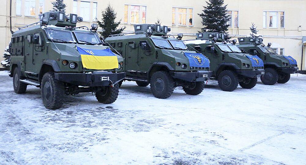 """Nowe samochody pancerne """"Warta"""", które otrzymali żołnierze Gwardii Narodowej Ukrainy"""