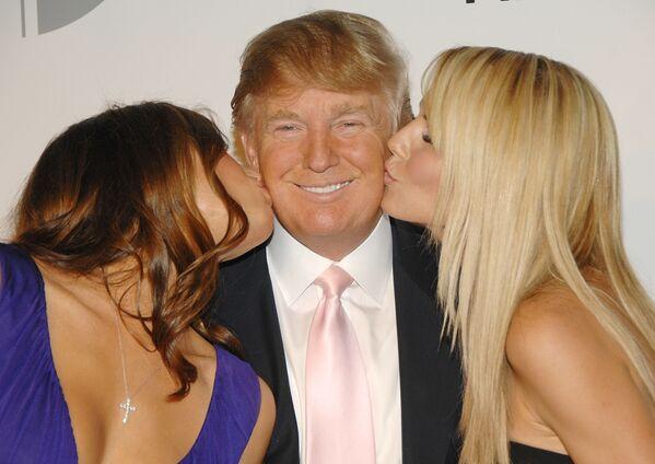 Donald Trump z żoną i modelką Heidi Klum - Sputnik Polska