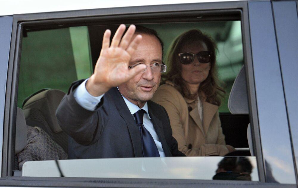 Prezydent Francji François Hollande i Valerie Trierweiler