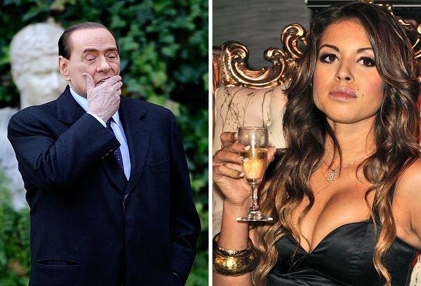 Silvio Berlusconi i tancerka Karima El Mahroug - Sputnik Polska