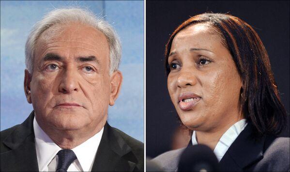 Dominique Strauss-Kahn i Nafissatou Diallo - Sputnik Polska