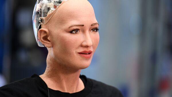 Humanoidalny robot Sofia opracowany przez specjalistę firmy Hanson Robotics Davida Hansona - Sputnik Polska