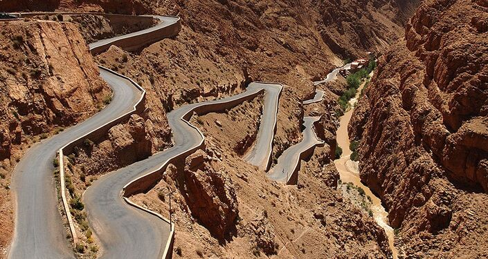Trasa Dadès Gorges w górach Atlas w Maroku