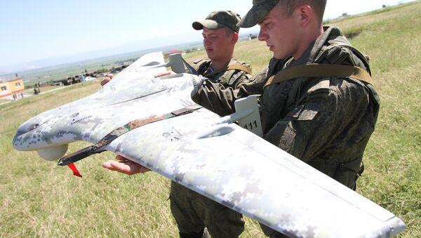Testy rosyjskiego samolotu bezzałogowego Eleron-3CB - Sputnik Polska