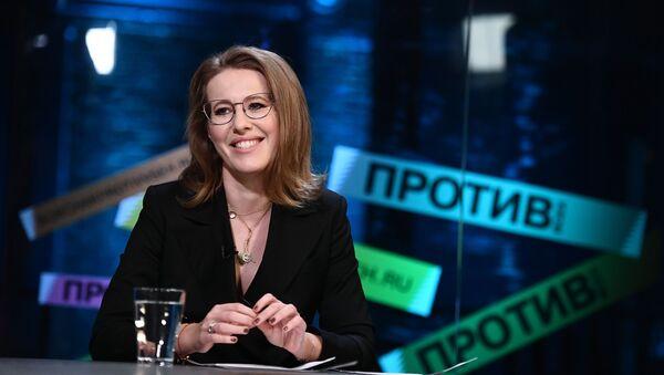 Prezenterka telewizyjna, kandydatka w wyborach prezydenckich Ksenia Sobczak - Sputnik Polska