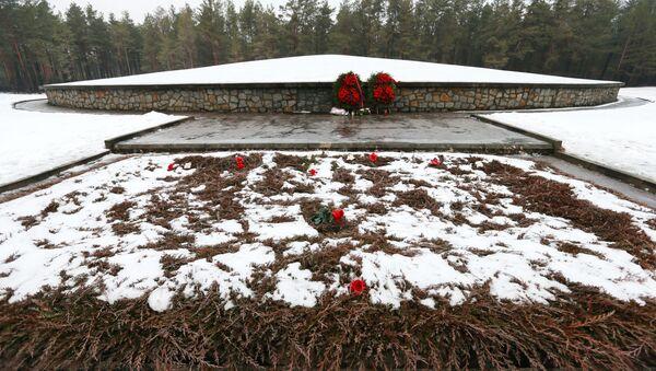 Memoriał Kurgan na terytorium obozu koncentracyjnego w Sobiborze - Sputnik Polska