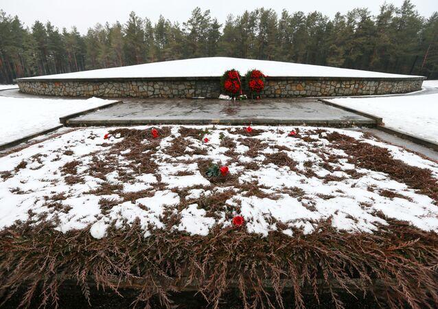 Memoriał Kurgan na terytorium obozu koncentracyjnego w Sobiborze