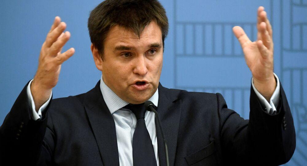 Szef ukraińskiego MSZ Pawło Klimkin