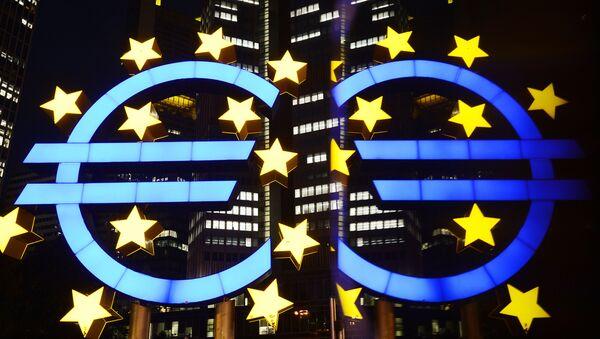 Logo Europejskiego Banku Centralnego - Sputnik Polska