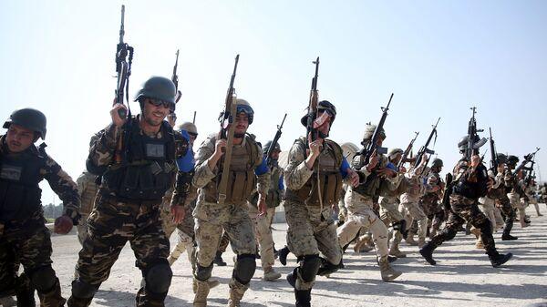 Siły Islamskiej Republiki Afganistanu podczas ćwiczeń w Kabulu - Sputnik Polska