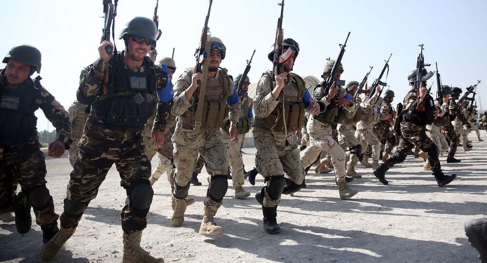 Siły Islamskiej Republiki Afganistanu podczas ćwiczeń w Kabulu