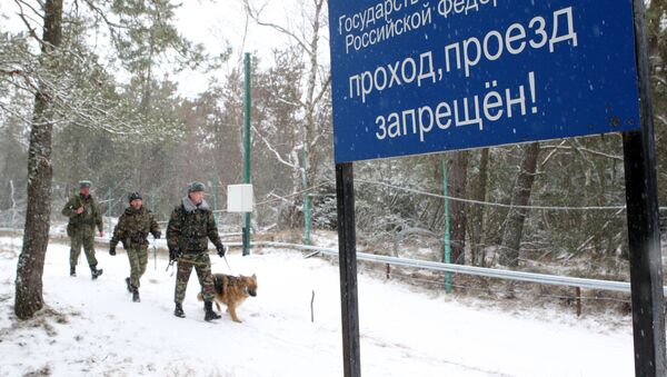 Patrol służby granicznej na granicy litewsko-rosyjskiej - Sputnik Polska