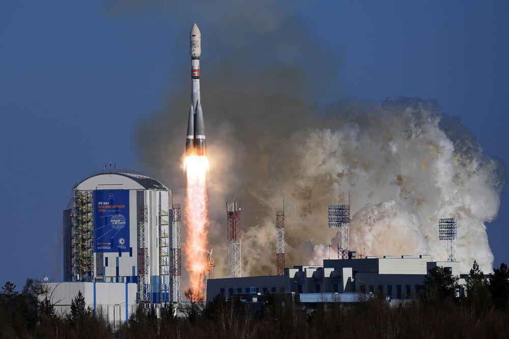 Rakieta Sojuz 2.1а wystartowała z kosmodromu Wostocznyj