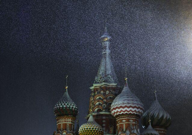 Śnieg w Moskwie