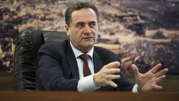 Izraelski minister transportu i wywiadu Israel Katz - Sputnik Polska