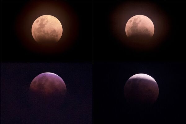 Zaćmienie Księżyca nad Dżakartą, Indonezja - Sputnik Polska