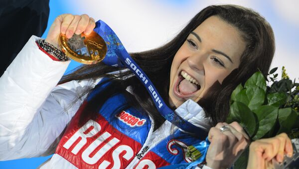 Rosyjska łyżwiarka Adelina Sotnikova w czasie XXII Zimowych Igrzysk w Soczi - Sputnik Polska