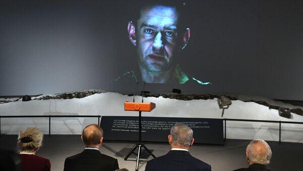 Władimir Putin i Beniamin Netanjahu na pokazie filmu Sobibór - Sputnik Polska