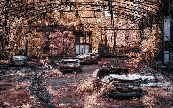 Opuszczone miasto Prypeć, położone 2 km od elektrowni jądrowej w Czarnobylu. - Sputnik Polska