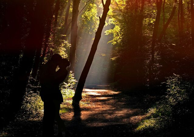 Kochankowie w lesie