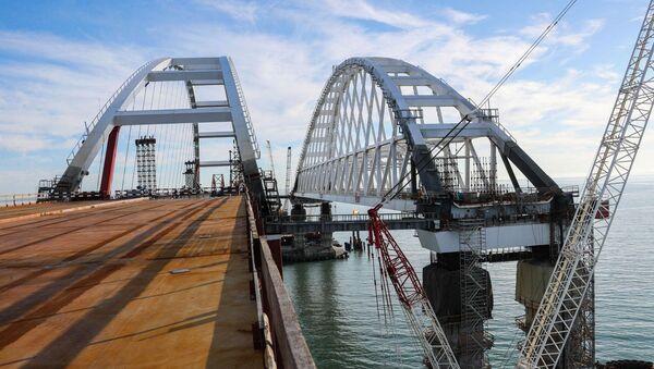 Budowa Mostu Krymskiego przez Cieśninę Kerczeńską - Sputnik Polska