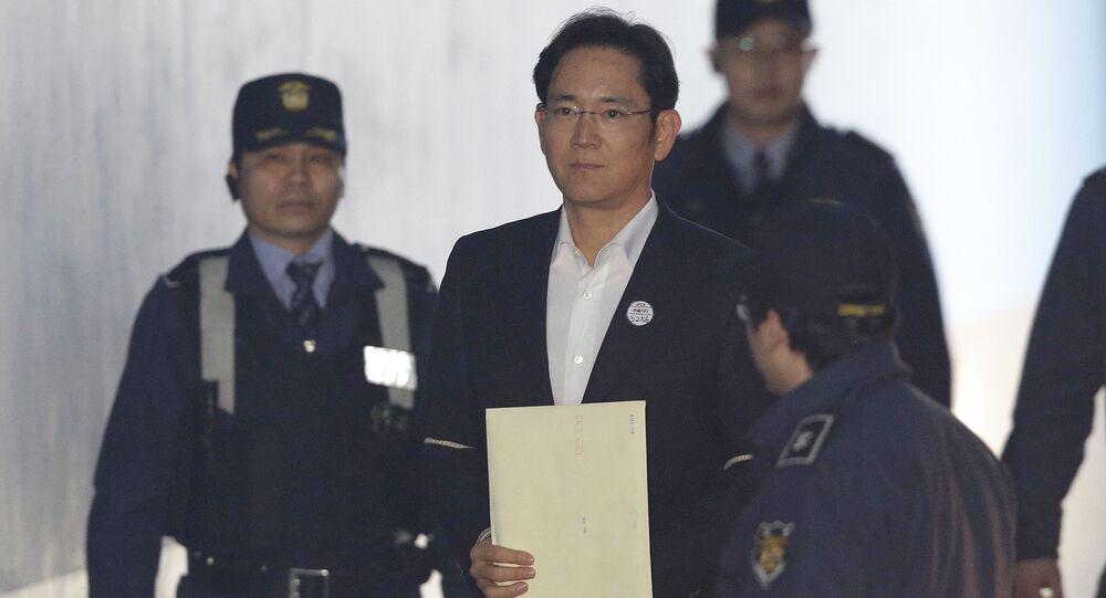 Wiceprezydent i faktyczny szef południowokoreańskiej korporacji Samsung Electronics Lee Jae-yong w Seulu