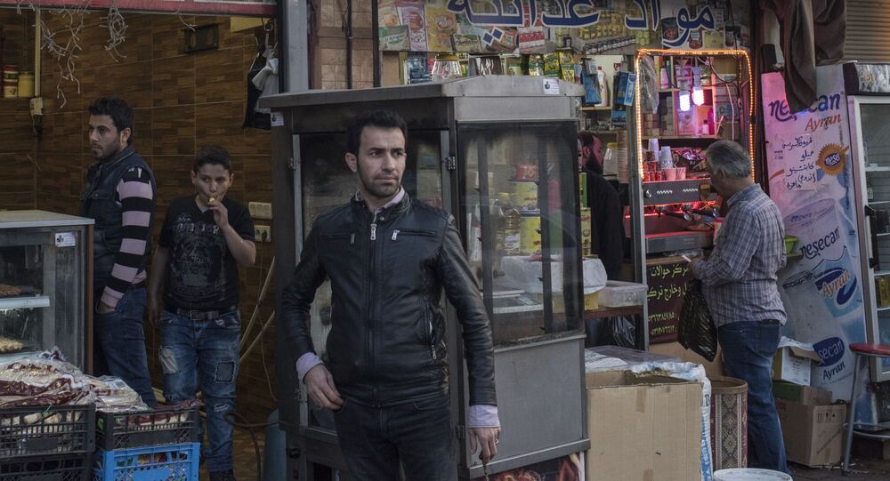 Syryjskie sklepy w tureckim rejonie Izmir Basmane