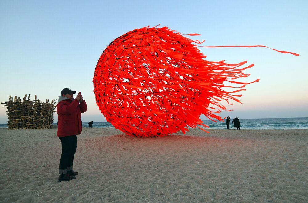 Plaża w Gangneung, Korea Południowa