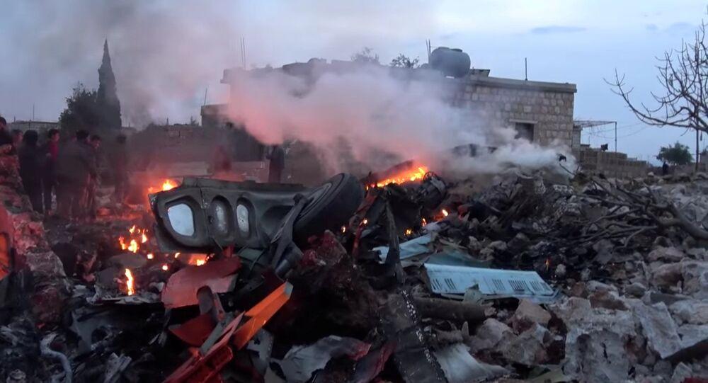 Zestrzelony rosyjski samolot Su-25 w Syrii