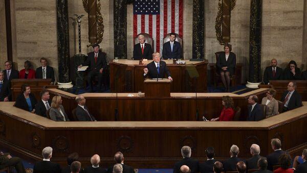 Donald Trump wygłasza orędzie do Kongresu - Sputnik Polska