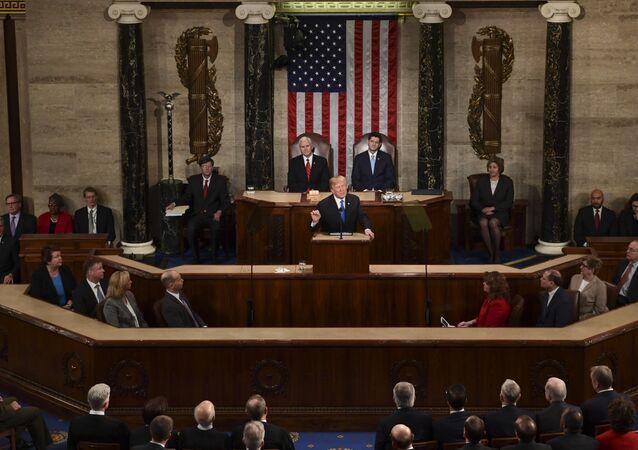 Donald Trump wygłasza orędzie do Kongresu