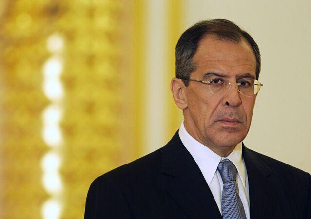 Siergiej Ławrow, minister spraw zagranicznych Rosji, 2004 rok.