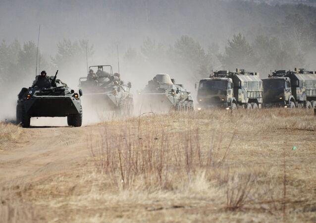 Żołnierze Wschodniego Okręgu Wojskowego podczas ćwiczeń w Kraju Zabajkalskim