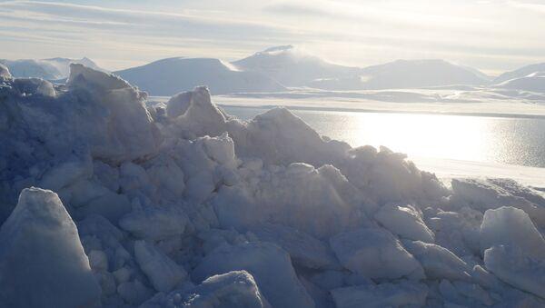 Cieśnina Olgi w rejonie miasteczka Barentsburg na archipelagu Spitsbergen - Sputnik Polska