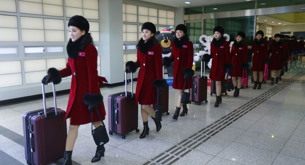 Cheerleaderki z Korei Północnej przyjechały na Olimpiadę