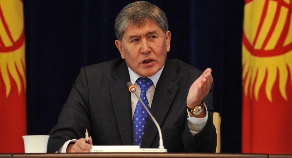 Prezydent Kirgistanu Ałmazbek Atambajew